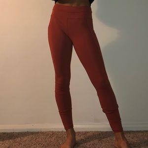 orange leggings